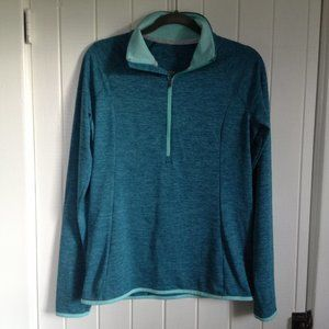 Under Armour UA teal 1/2 zip running shirt size M